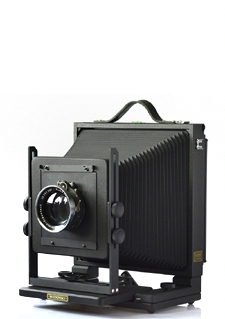 8x10 Svedovsky field camera. Black finished mahogany wood.