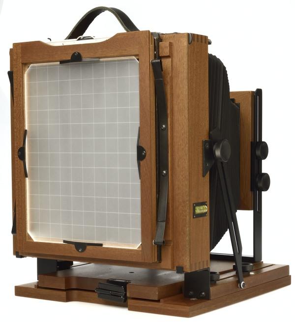 8x10 Svedovsky large format camera - back in vertical position